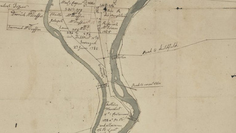 Early Road map of Athens - Sayre area