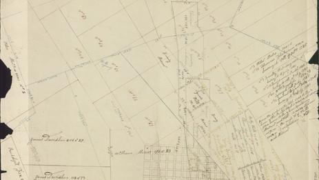 Early layout of Towanda PA