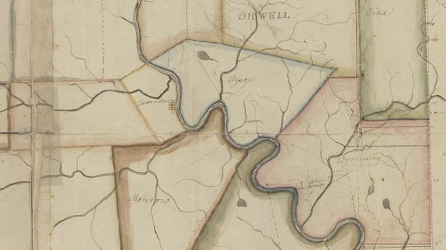 Bradford County Townships in the Towanda area c. 1823