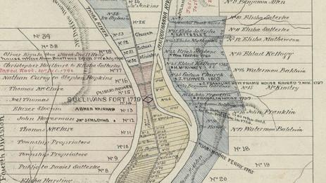 N F Walker Map of original lots in Athens