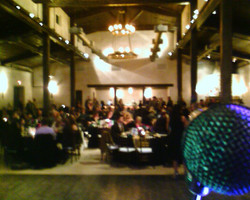 my stage view during the mission fundrai