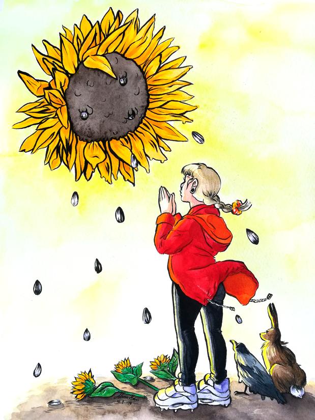 Sacrifice to the sunflower god