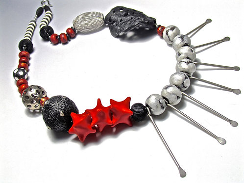 Red Starburst Necklace
