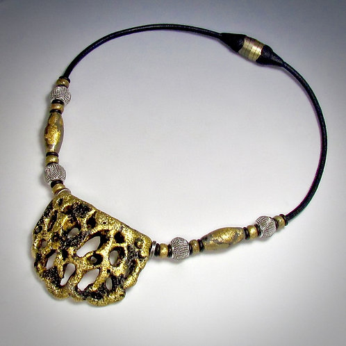 Gold Erosion Necklace