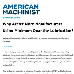 American Machinist Article