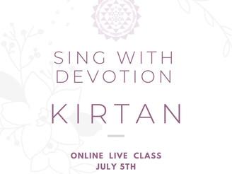 【Workshop】《オンラインLiveクラス》音の祈り〜キールタンを体験する〜