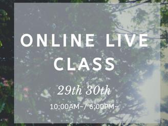 【NEW CLASS】オンラインLiveクラスのお知らせ