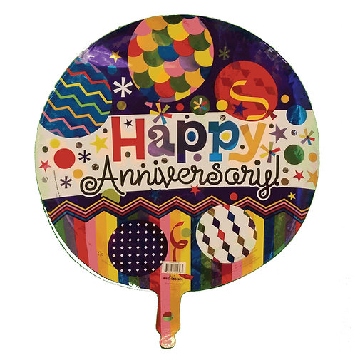 Happy Anniversary Balloons, Confetti, and Streamers Balloon 18""