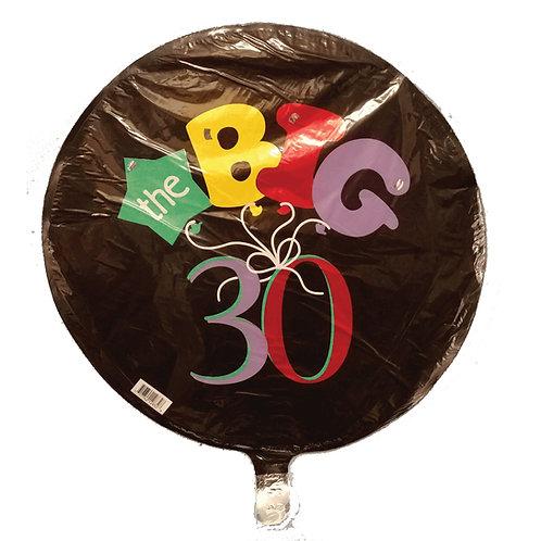 "Thirty Birthday Balloon 18"""