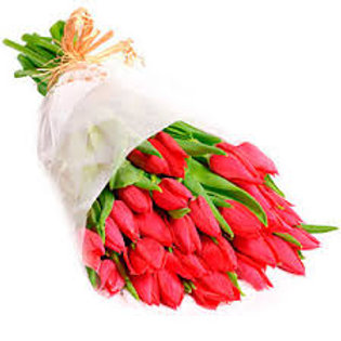 Bouquet of 20 Tulips - Choose Colour