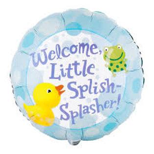 "Welcome Little Splish-Splasher 18"""