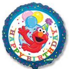 Happy Birthday Sesame Street Elmo Balloon 18""