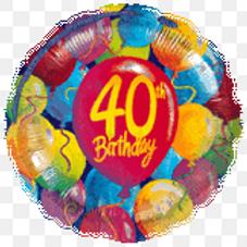 40th Birthday Balloons Balloon 18