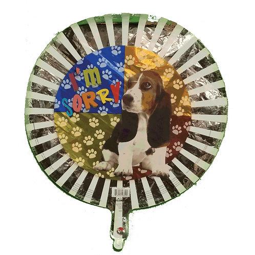 """Im Sorry Basset Hound Balloon 18"""""""