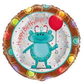 """Happy Birthday Alien Balloon 18"""""""