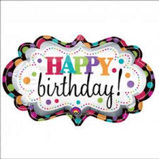 "Large Happy Birthday Balloon 35"""