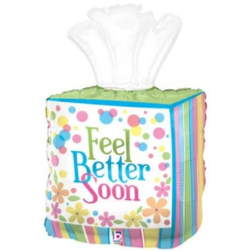 "Feel Better Tissue Box Balloon 32"""
