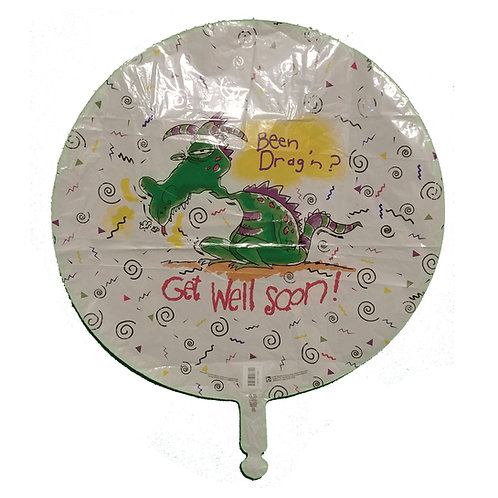 Been Dragin Get Well Soon Dragon Balloon 18""