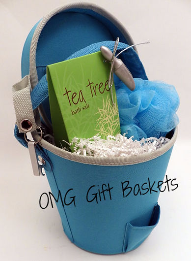 Ice Bucket and Bath Salts Gift