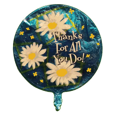 """Thanks For All You Do Daisies Balloon 18"""""""