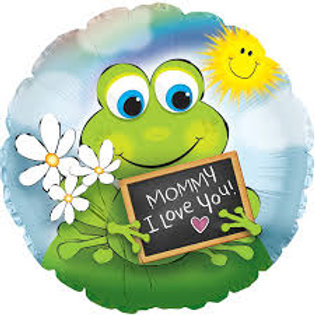 Mommy I Love You Frog Balloon 18""