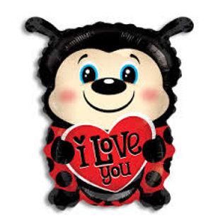 """I Love You Ladybug Balloon 18"""""""