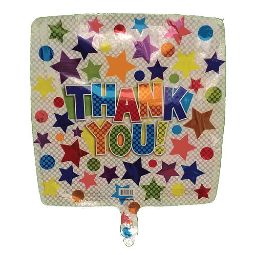 Thank You Stars and Circles Square Balloon 18""