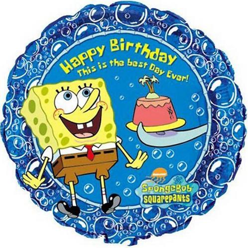"SpongeBob Squarepants Happy Birthday Balloon 18"""