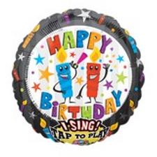 Birthday Candles Jumbo Sing-A-Tune Balloon