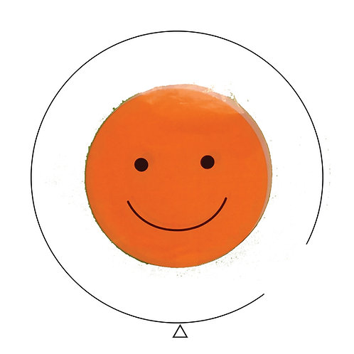 Happy Face Orange Clear Balloon 18""