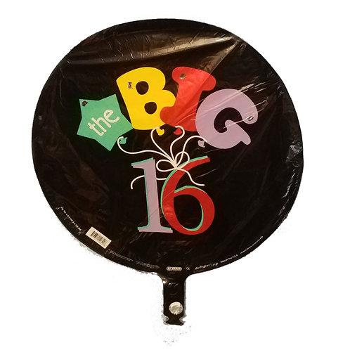 """16 Birthday Balloon 18"""""""