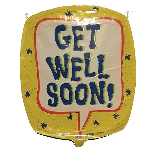 """Get Well Soon Callout Balloon 18"""""""