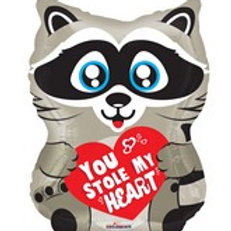 You Stole My Heart Raccoon Balloon 18""