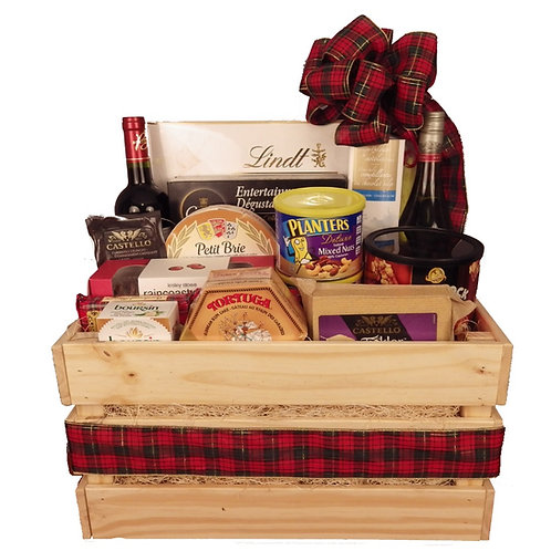 Crate of Goodies with Wine