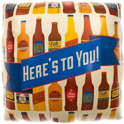 """Here's to You Beer Balloon 18"""""""