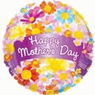 Happy Mother's Day Flowers Balloon 18""