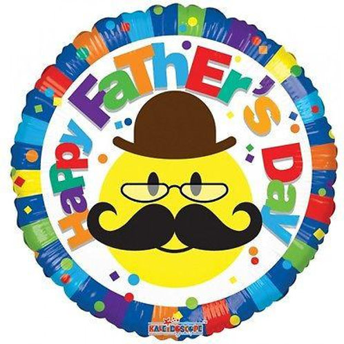 Happy Father's Day Mustache Balloon 18""