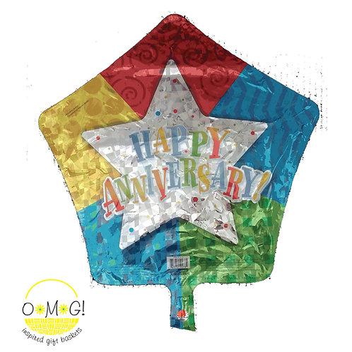 "Happy Anniversary Star Baloon 18"""