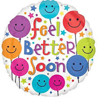 Feel Better Soon Smiley Balloons Balloon 18""