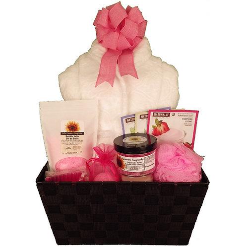 Pink Popsicle Bath with Bathrobe