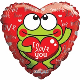 Love You Frog Balloon 18""