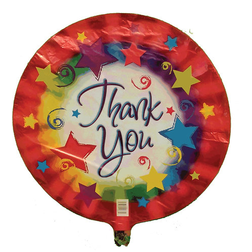 Thank You Stars and Colour Burst Balloon 18""