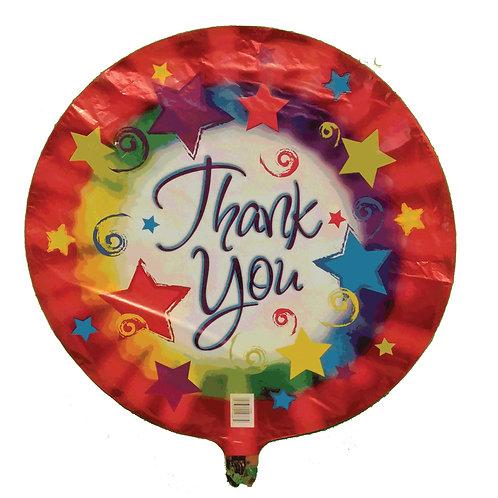"Thank You Stars and Colour Burst Balloon 18"""