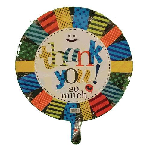 """Thank You So Much Colour Pinwheel Balloon 18"""""""