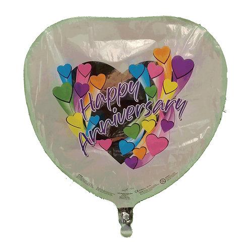 """Happy Anniversary Hearts Silver Heart  Balloon 18"""""""