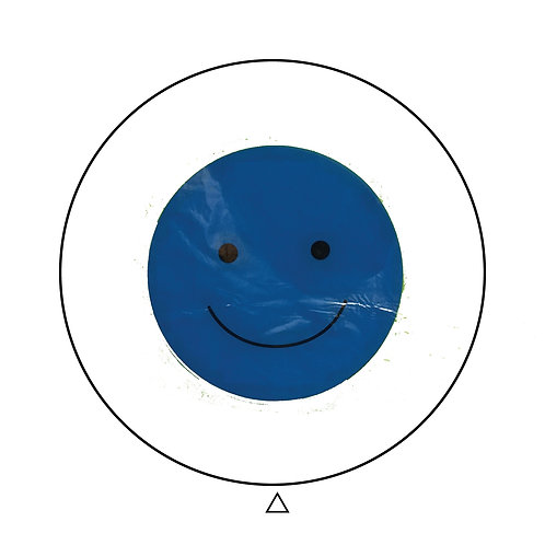 Happy Face Blue Clear Balloon