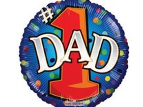 """#1 Dad Balloon 18"""""""