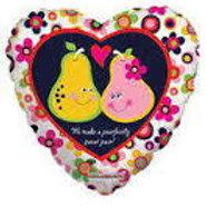 "Love Pears Heart Balloon 18"""