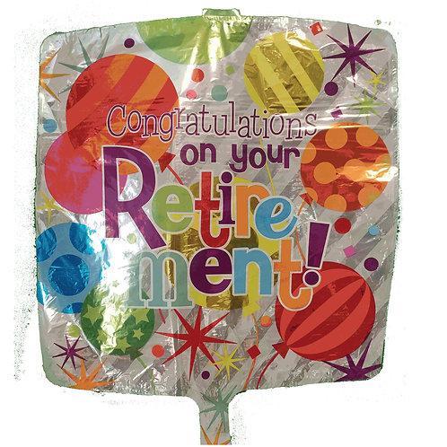 "Congratulations on Your Retirement Air Balloons Ballon 18"""