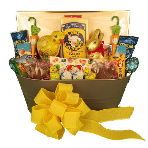 Large easter sweets nuts and cheese omg gift baskets flowers weve created an easter version of a customer favourite lovely gift basket that has something for everyone large box of premium chocolates lindt easter negle Choice Image